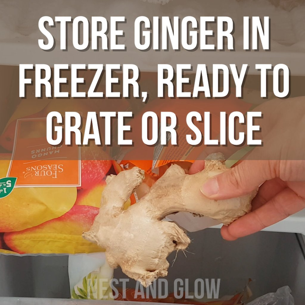 freeze ginger to last for months