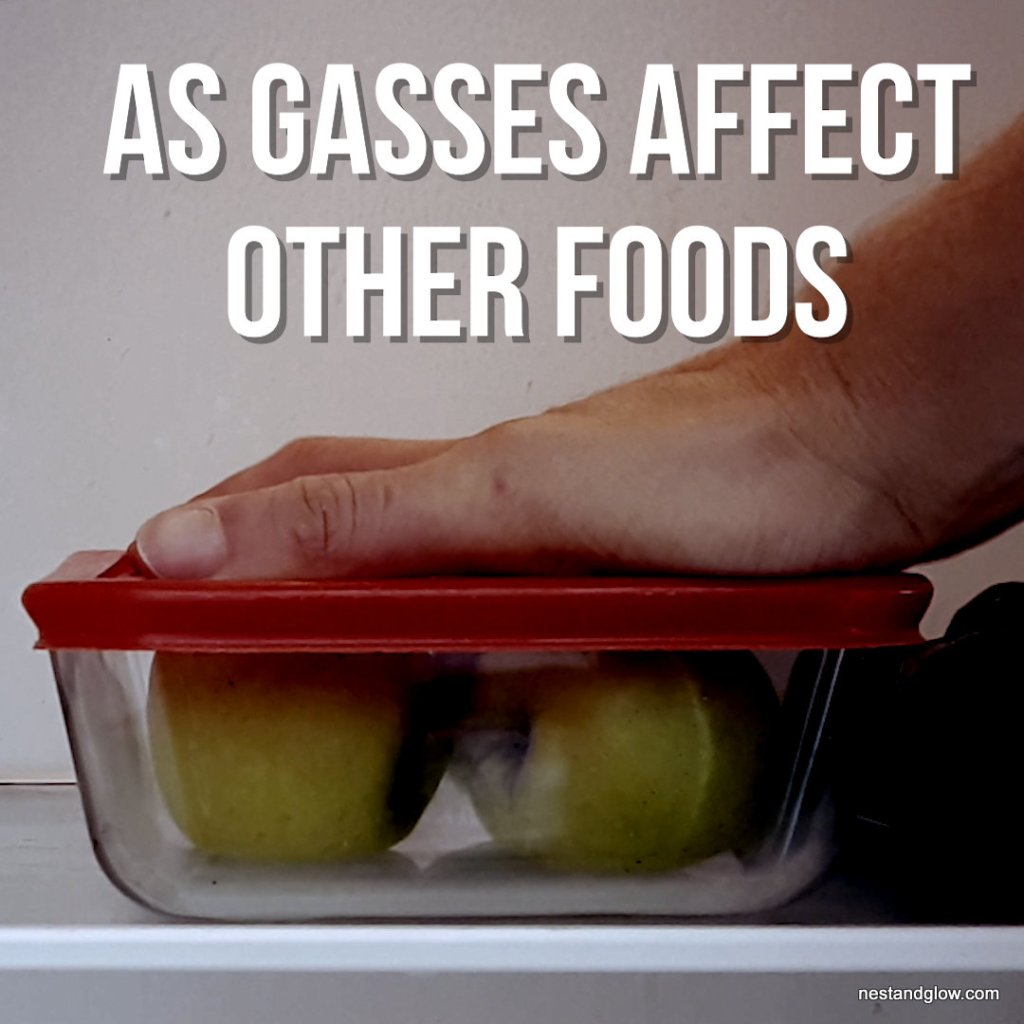 store apples airtight in fridge as gasses cause other foods to go bad