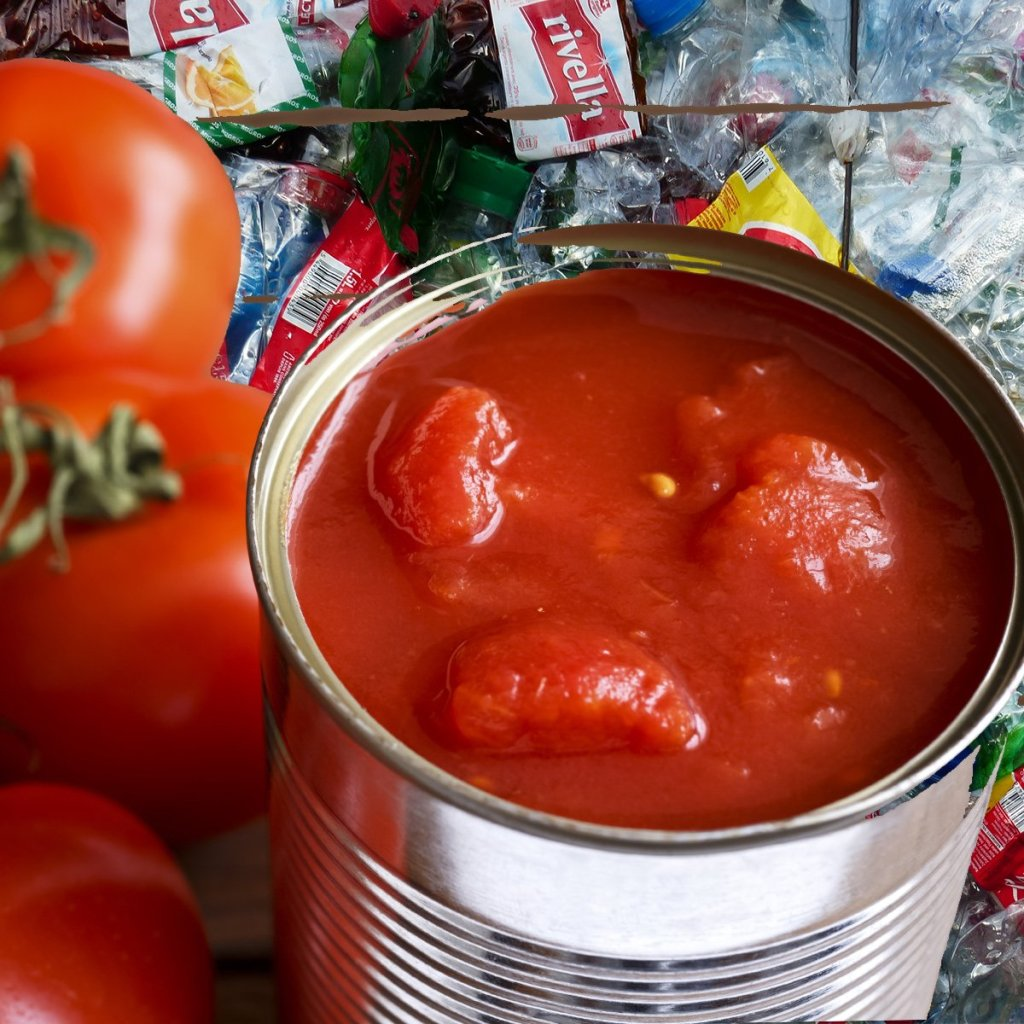 tinned tomato contains microplastic