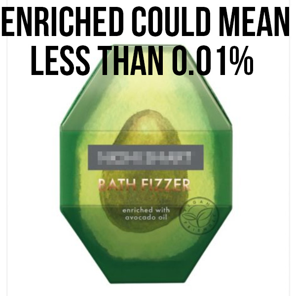 avocado enriched oil not natural