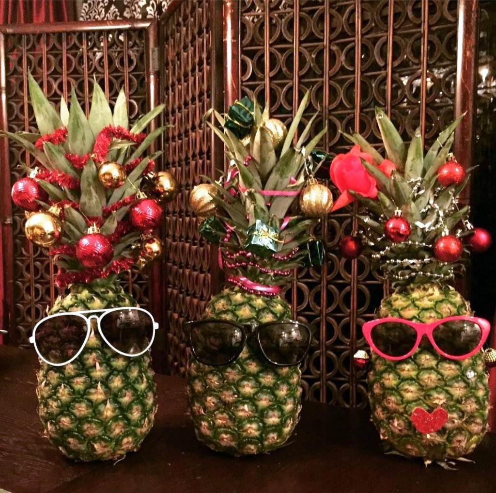 pineapple tree recycle plastic