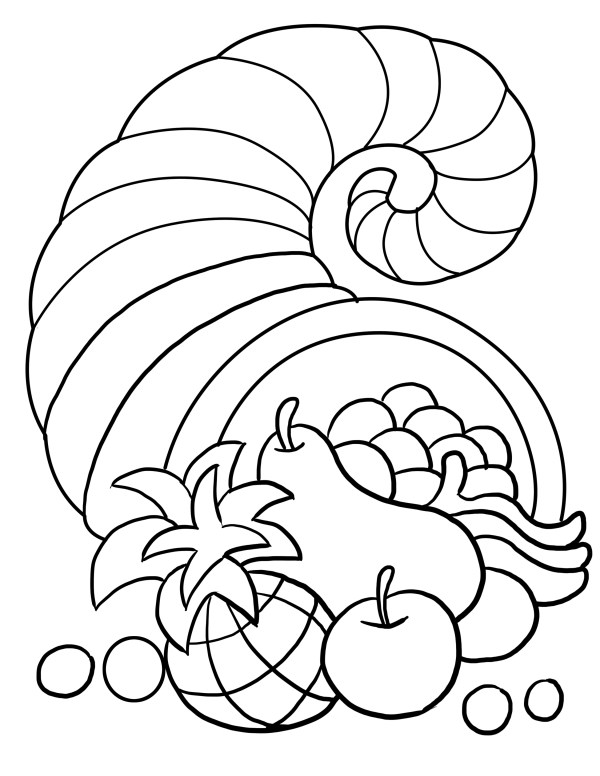 free thanksgiving coloring pages printable # 12