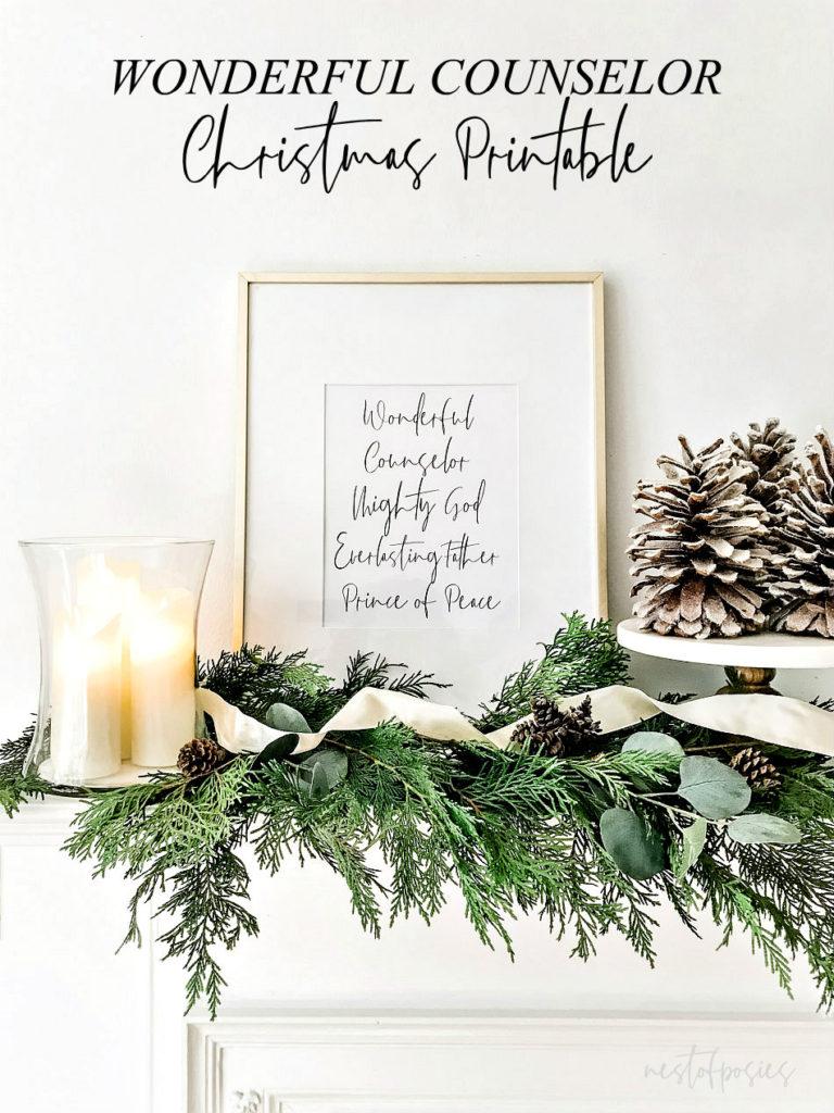 Wonderful Counselor Christmas Printable