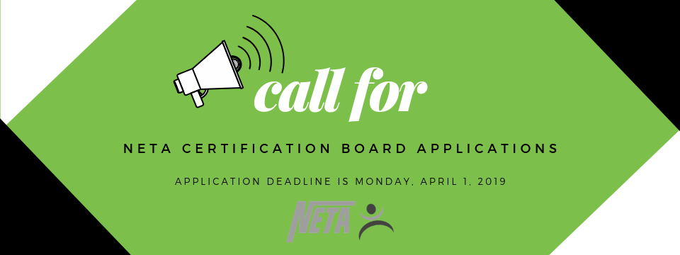 Call for NETA Board Certification Applications