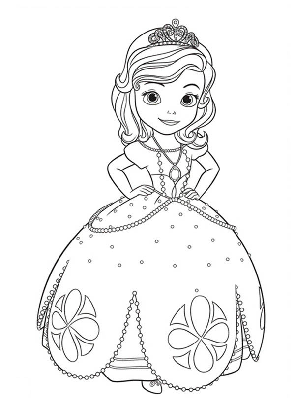 Princess Sofia The First Going To Dance Coloring Page NetArt