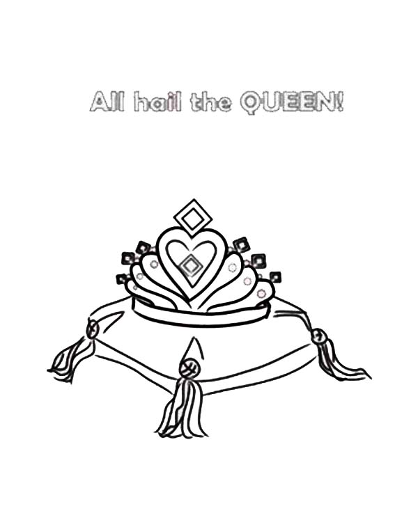 diamons for princess crown coloring page  netart