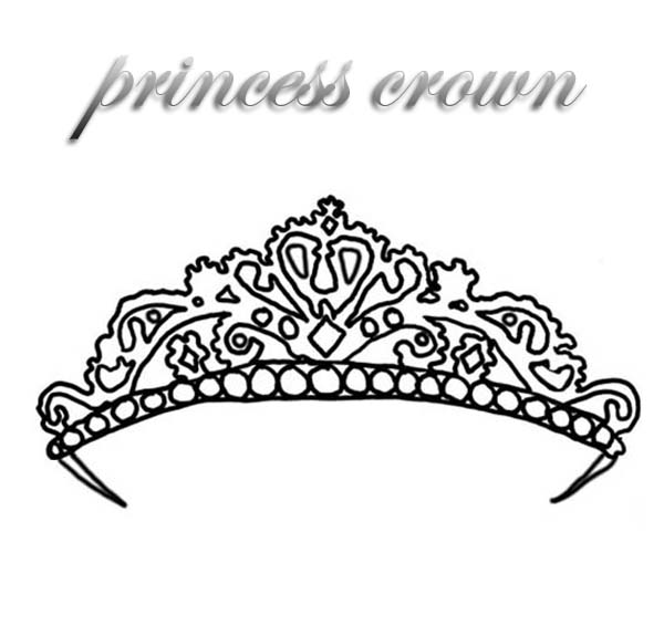 expensive princess crown coloring page  netart