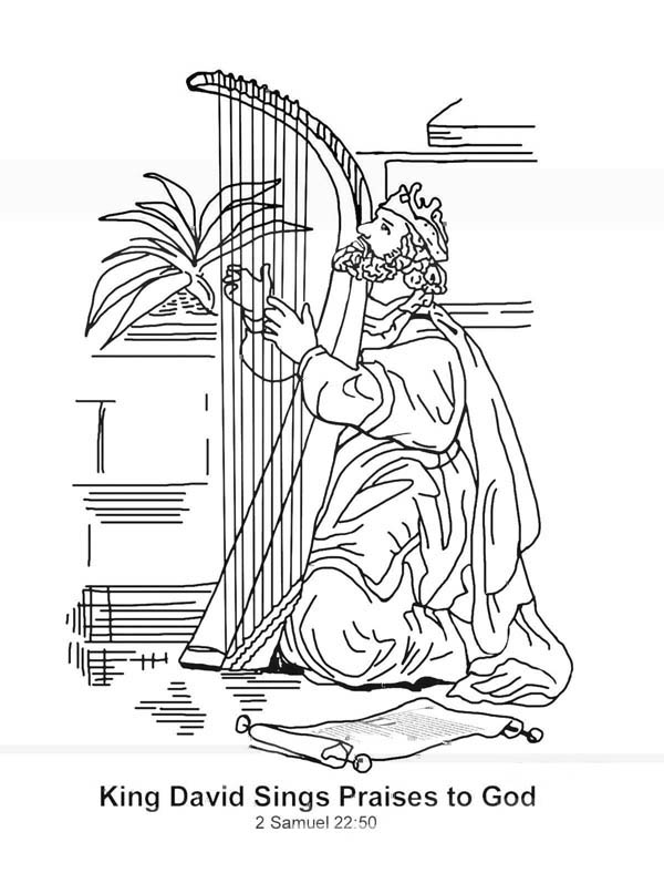 king david sings praises to god in the story of king saul