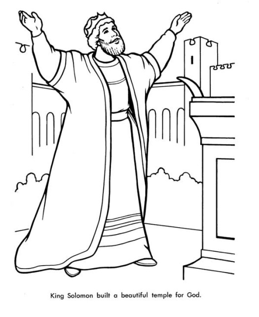 King Solomon Coloring Pages Printable