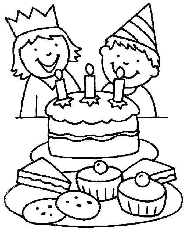 Coloring Pages Birthday Party | Coloring Page for kids