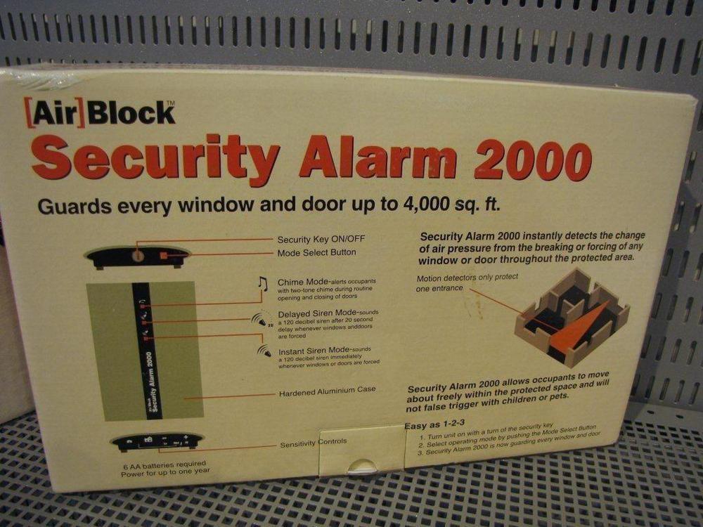 Security Alarm 2000 Air Block