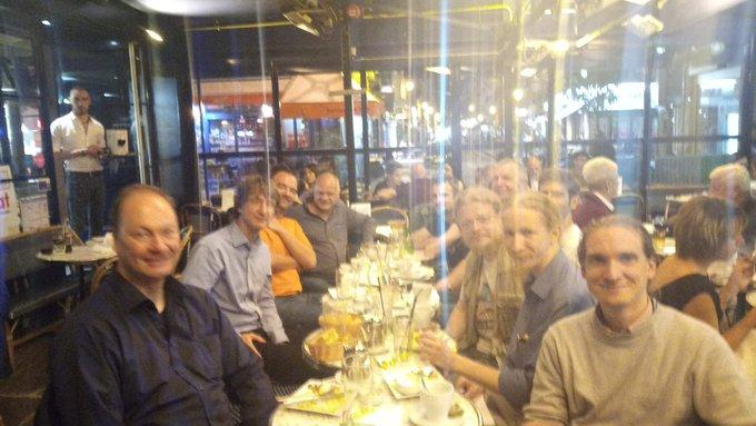 Photograph of the Sunday dinner, taken by Abhinav.