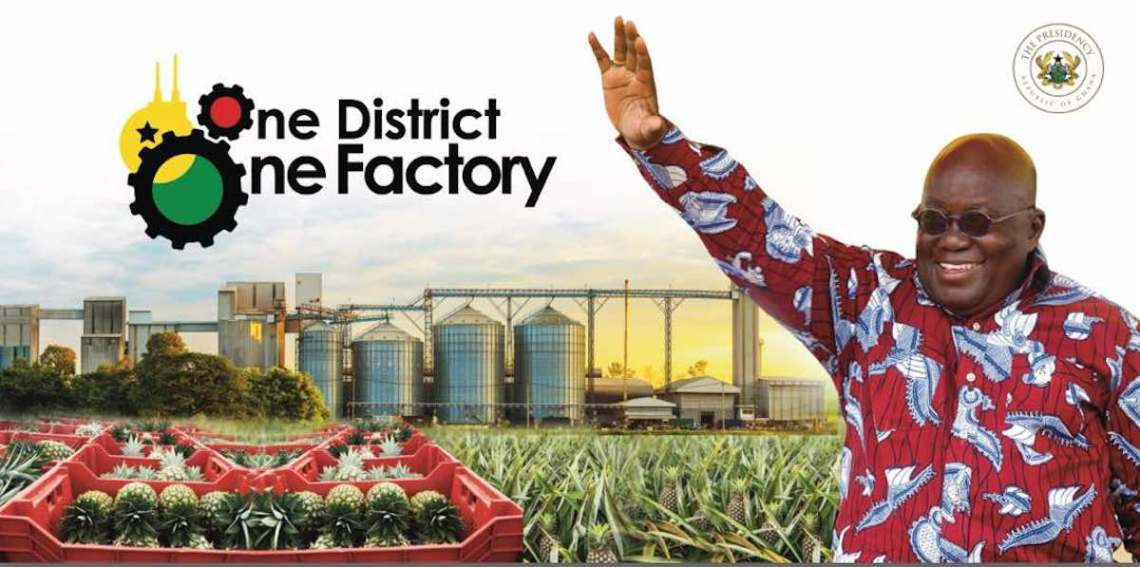 President Akufo-Addo to Launch One District One Factory Policy