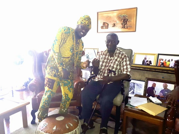 Blakk Rasta presents 'Wee' album to ex-president Kuffour