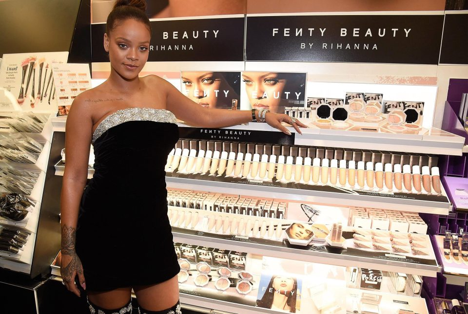 Make-up junkies can't cope with Rihanna's'Fenty' name for her beauty range