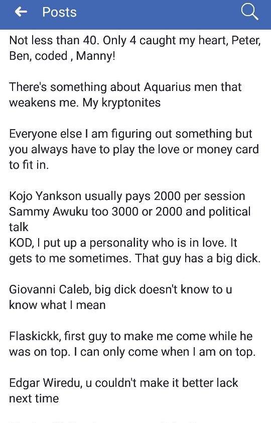 KOD, Giovanni, Kojo Yankson pays 2000 cedis for sex - Abena Korkor