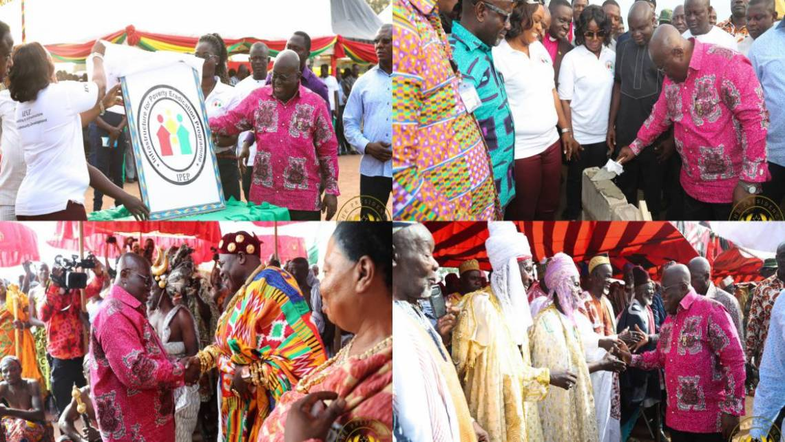 """President Akufo-Addo Cuts Sod For """"1-District-1-Warehouse"""" Project"""