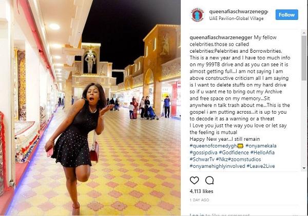I'm ready to expose Ghanaian celebrities - Afia Schwarzenegger