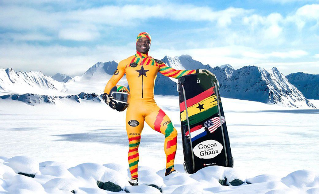 2018 Winter Olympics: Ghana's Akwasi Frimpong comes last after two heats