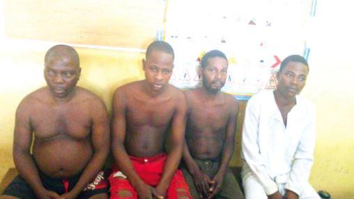 Police retrieve human head from shrine, arrest 4 suspects
