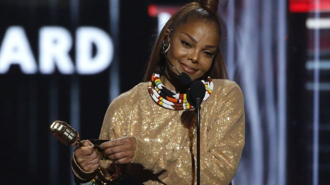 Janet Jackson rails against abuse in awards speech