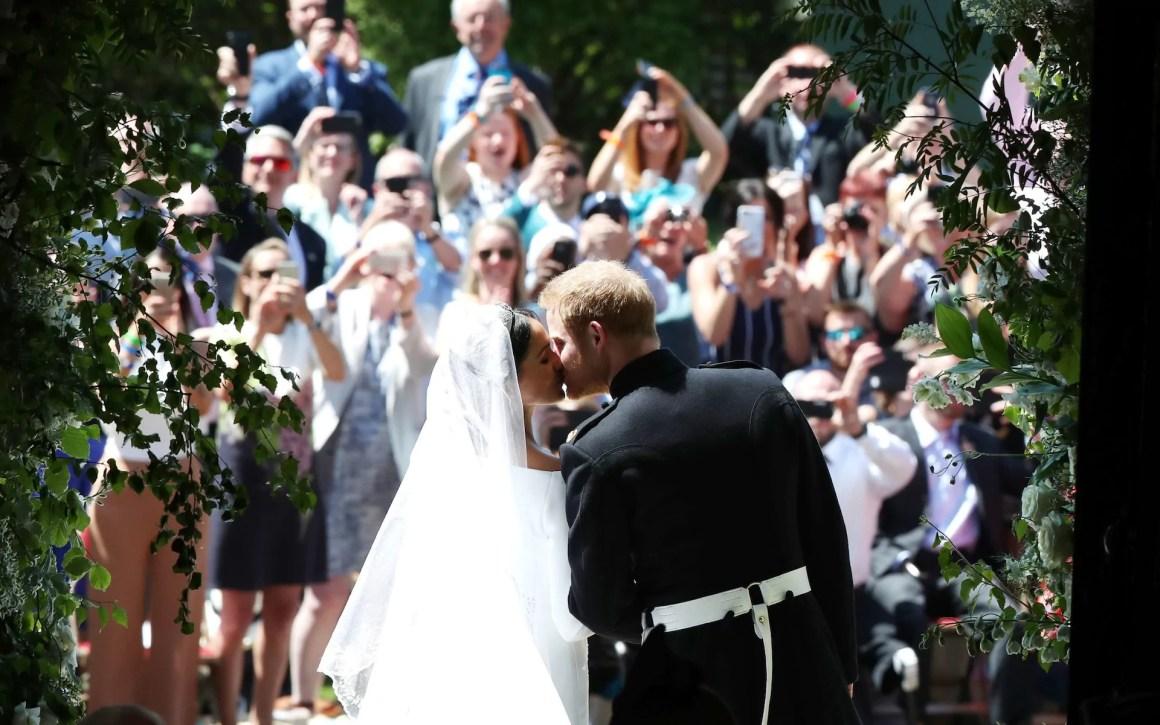 Prince Harry weds Meghan: The Kiss, Crowds Delight & Royal Celebration
