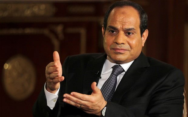 "Egypt's president faces online backlash after saying country is on the ""right track"""
