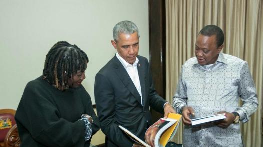 Barack Obama meets Kenyatta and Odinga in Kenya