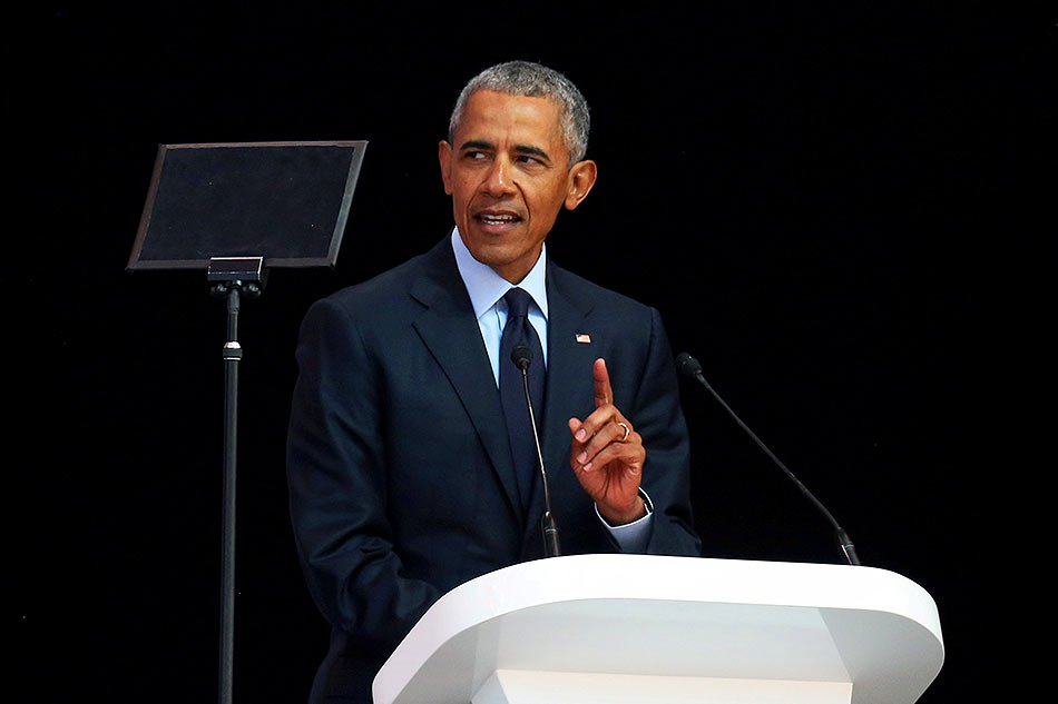 Obama warns of'strange and uncertain times'