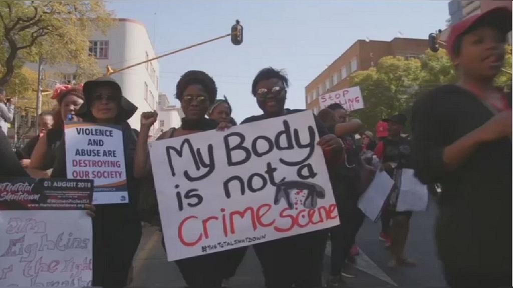 Pretoria: Thousands of South African women protest against gender based violence