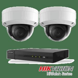 Netcam Hikvision pakke med 2 kameraer IP 8 megapixel & opptaker