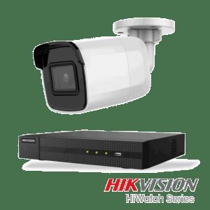 Netcam Hikvision pakke med 2 kamera IP utendørs 8 megapixel & opptaker