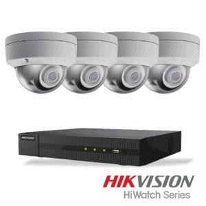 Netcam Hikvision pakke med 4 kameraer IP 4 megapixel & opptaker