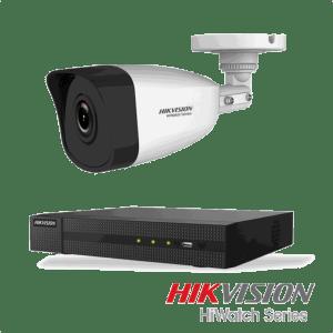 Netcam Hikvision pakke med 1 kamera IP utendørs 4 megapixel & opptaker