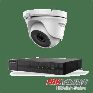 Netcam Hikvision pakke med 1 kamera 4 megapixel dome