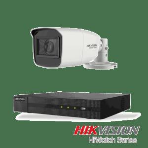 Netcam Hikvision HiWatch 5 megapixel analog overvåkning kamera DVR opptaker pakke 1
