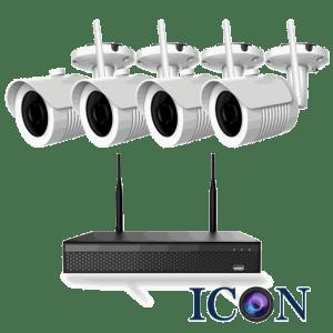 Netcam trådløs Wi-Fi 5MP pakke 4 kameraer og opptaker 1TB