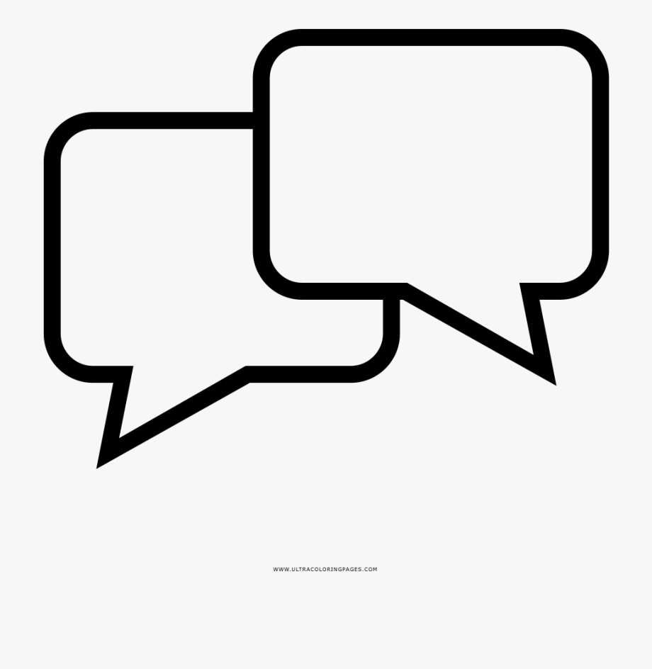 Speech Bubbles Coloring Page Text Balloons Coloring Pages Transparent Cartoon Free Cliparts Silhouettes Netclipart