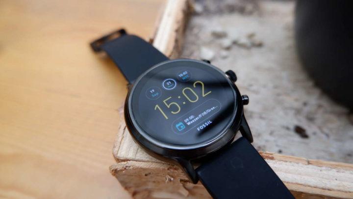 Actualización de Google del reloj inteligente Fossil Wear OS