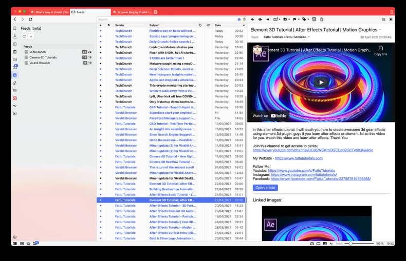 1623248835 242 La actualización de Vivaldi agrega un cliente de