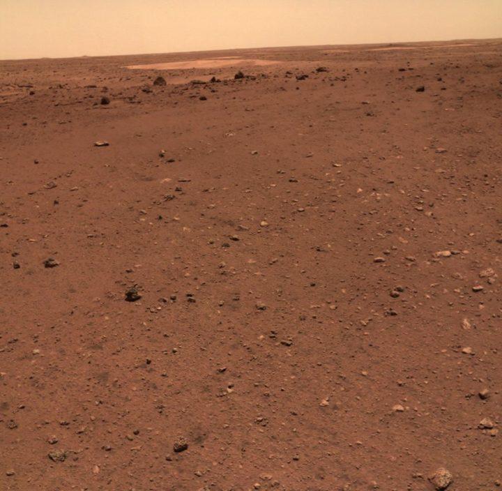 China publicó imágenes en color de la superficie de Marte