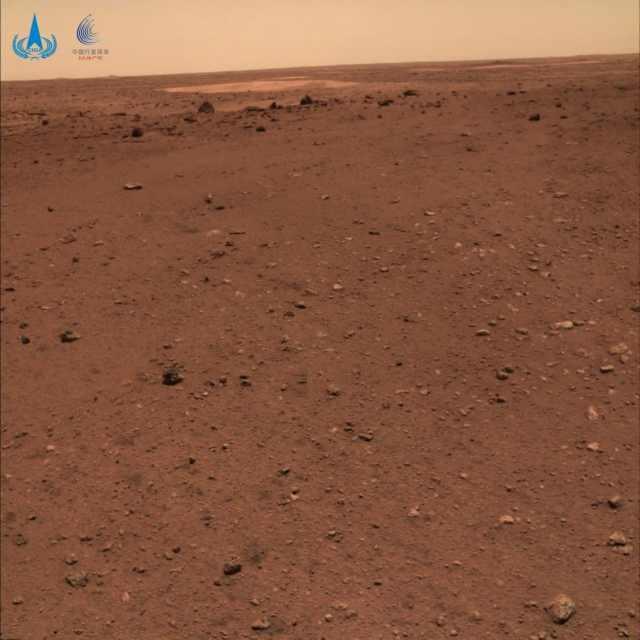 Suelo marciano en la llanura de Utopía Panitia / CNSA