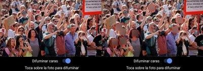 Señalar ocultar caras en una foto