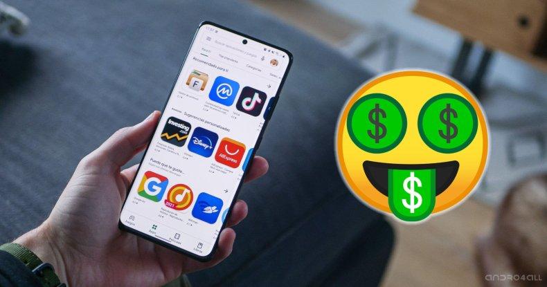 Aplicaciones a la venta en Google Play Store