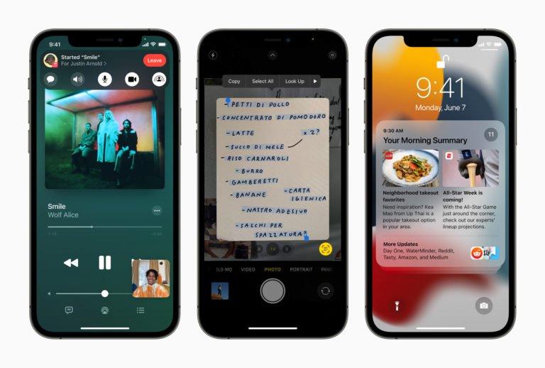 Apple es nuevo en iOS 15 iPadOS 15 macOS