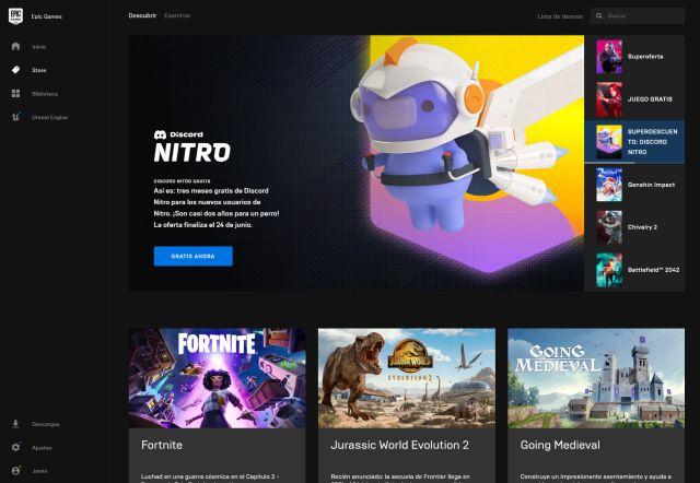 Discord Nitro 3 meses tienda de juegos épicos cómo comerciar
