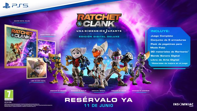Reserva de Playstation Ratchet & Clank A Dimension Apart