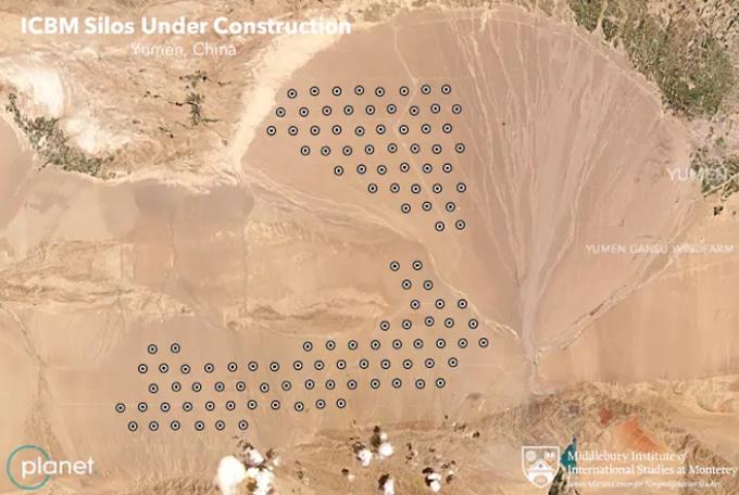 Imágenes satelitales de silos en China