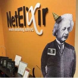 Albert Einstein in NetElixir's Princeton office