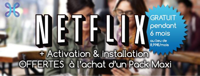 Proximus propose Netflix offert pendant 6 mois en souscrivant l'offre Maxi